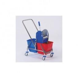 Double Bucket Trolley Chrome / Plastic