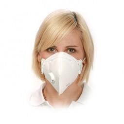 Respirator mask FFP3 with valve