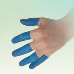 BF Blue Finger Cots, Latex