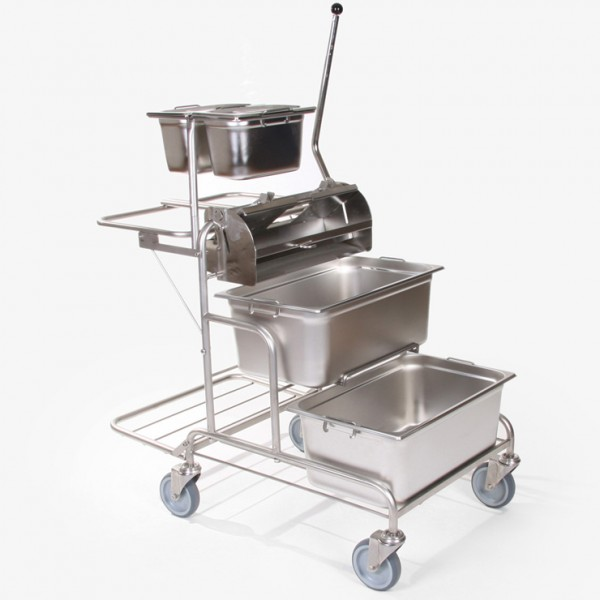 Stainless Steel Cleaning Trolley Bucket Autoclavable